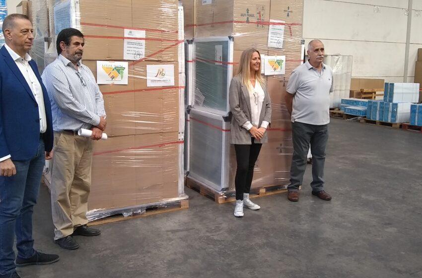 Esta misma mañana, AJYPE Ciudad Real ha visto su sueño hecho realidad con el envío de 18.000 kilos de solidaridad