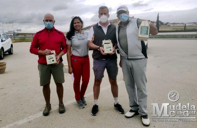 Francisco López y Luis Barba ganadores V torneo social Golf Mudela