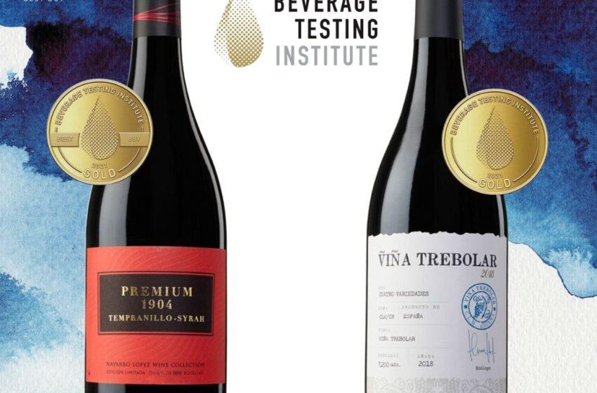 Los vinos Premium 1904 Tempranillo Syrah y Viña Trebolar, de Navarro López, premiados con dos oros por el Beverage Testing Institute de Chicago