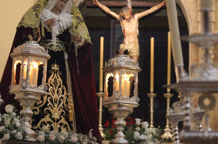 María Stma. de la Palma, Reina de los Mártires, volvió a recorrer las calles de su barrio en el VI Aniversario de su Coronación Litúrgica