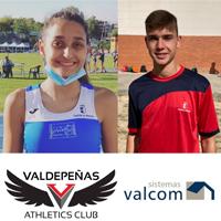 María Laderas y Pablo Caballero del Valdepeñas A.C. Sistemas Valcom, participaron en el Campeonato de España