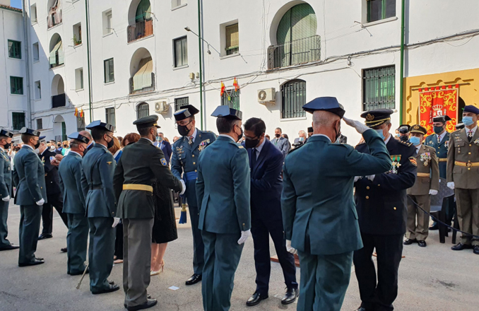 El presidente de la Diputación asiste a los actos con motivo de la Festividad de la Patrona de la Guardia Civil