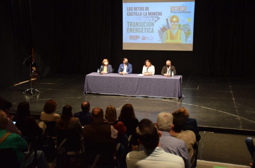 Patricia Franco ha clausurado la jornada sobre Transición Energética de CCOO y UGT en Puertollano